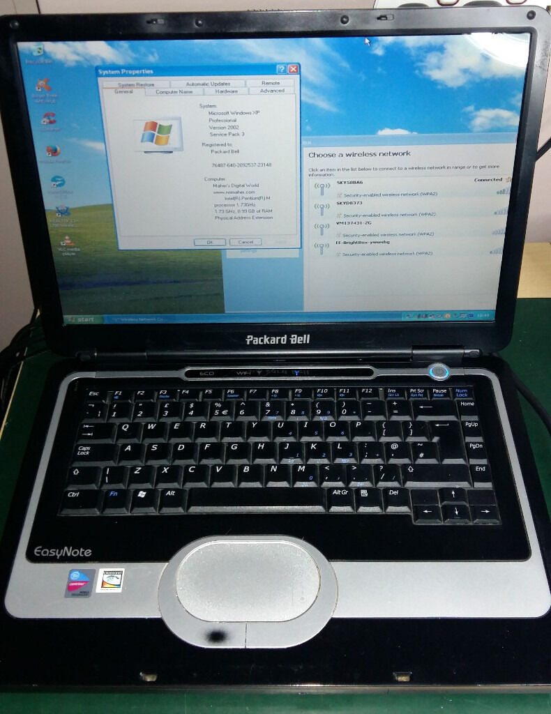Packard Bell Easynote S4 Running Windows Xp And Wireless