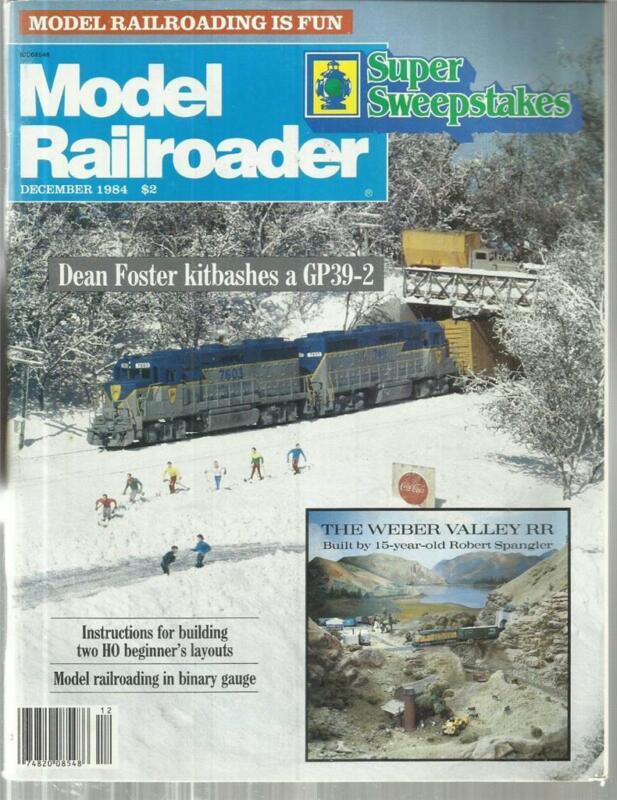 Model Railroader December 1984 1870