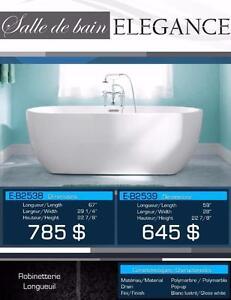 NEW free standing bathtub 12 MODELS / Bains autoportants NEUF