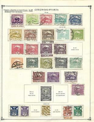 Used, CTO Czechoslovakia Collection On Scott Album Pages (1918-60) - SEE!!!