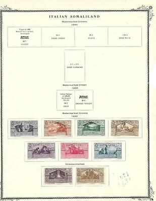 From A Scott Brown (1928-34) -  Small Mint Somalia Collection On A Page - SEE!!!