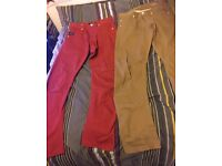 Two pairs of Jack & Jones Chinos 30R Good Condition