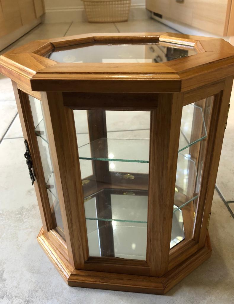Antique Mele Glass Display Case Cabinet For Thimbles
