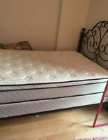 Full/double size mattress with matching boxspring