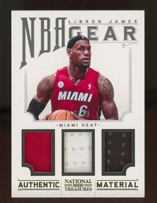 2013 National Treasures NBA Gear #2 LeBron James 16/49 Jersey
