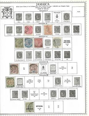 Used Jamaica Collection On Minkus Album Pages - SEE!!!