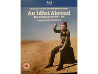 AN IDIOT ABROAD BLU RAY COMPLETE SERIES 1 & 2
