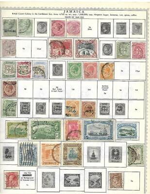 Small Mint, Used Jamaica Collection On A Minkus Album Page - SEE!!!