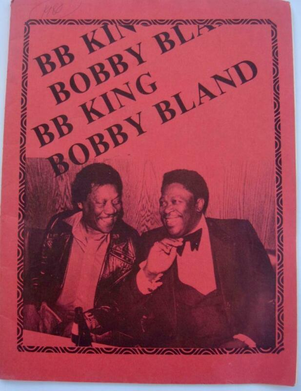 "Program Blues Meeting B.B. King Bobby ""Blue"" Bland Albert King Jackie Wilson Pic"