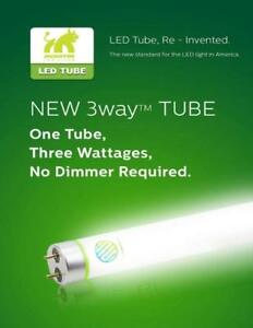 Led Hybrid Tube 18W @131LM -2500LM 3 Wattages in 1 , NO Dimmer required  DLC /TYPE A&B , $7 rebate in Ontario
