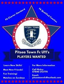 U11's Football Players Wanted