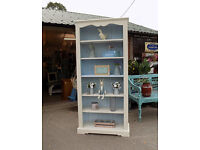 Large Tall Painted Pine Bookcase