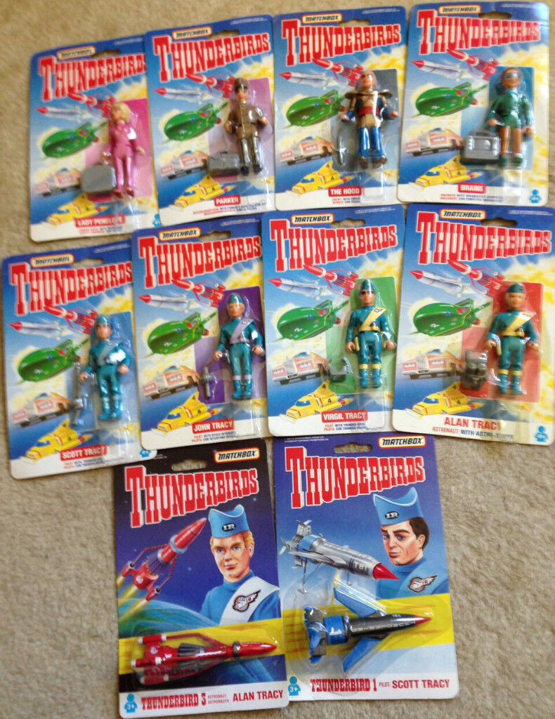 Thunderbirds Matchbox Toy Figure Set Sealed New Gerry Anderson Tracy Island Rare TV Kids Scifi