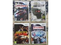 Wii Need for Speed and Snowboarding games