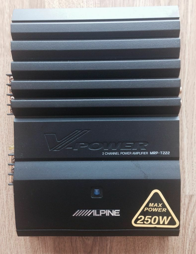 Alpine Vpower 2 Channel Power Amplifier (mrpt222) 250w  Pick