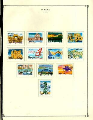 1 WONDER MALTA USED SMALL LOT ON PAGES ALL SHOWN NICE TOPICALS B794 - $2.26