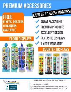 Join the Wireless Revolution - Wholesale Cellular Accessories - Great for any Retail Business!