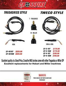 300A & 400A Tweco/Tregaskiss Style Air-Cooled MIG Welding Torches