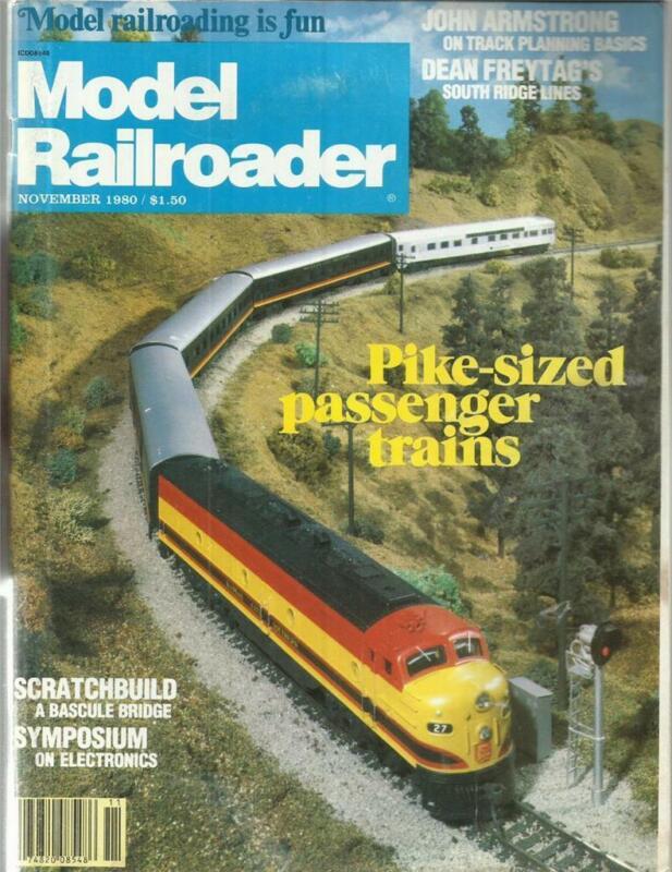 Model Railroader November 1980 CN Mikados Engine & Vertical Lime Kiln Drawings
