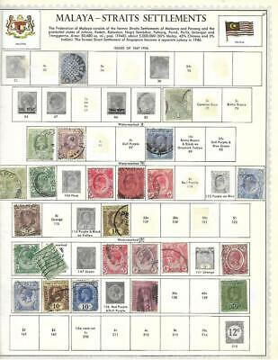 Mint, Used Straits Settlements/Malaya Collection On Minkus Album Pages - SEE!!!