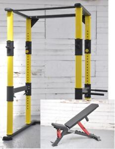 Free Shipping IRON BULL SET (Rack + Bench) IRON BULL DR2 + IRON BULL 90