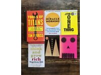Collection of 6 productivity, business, self help Books