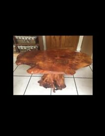 Handmade alder wood coffee table