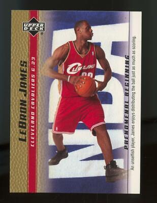 2004 Upper Deck Phenomenal Beginning Gold #15 LeBron James