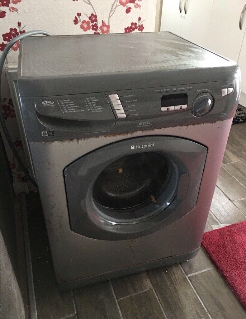 hotpoint washing machine in grey excellent brand works good used