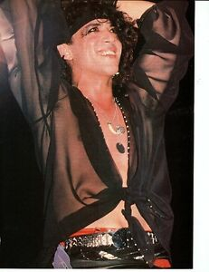 STEPHEN-PEARCY-PINUP-PRINT-AD-vtg-80s-Heavy-Hair-Metal-RATT-Band-L-A-Sleaze