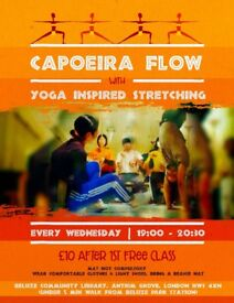 Capoeira flow class with YOGA inspired stretching & breathing