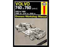 HAYNES VOLVO 740 & 760 SERVICE REPAIR MANUAL 1982 - 1989 PETROL MODELS