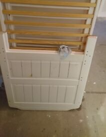 White pine cot bed