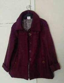 Anne De Lancay ladies purple coat