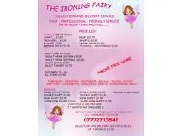 THE IRONING FAIRY, COLLECTION AND DELIVERY SERVICE, SMOKE FREE HOME, PROFESSIONAL AND FRIENDLY