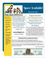 Jolly Giant Childcare - Space Available