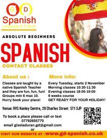 Spanish classes for Absolute Beginners starting November 2021