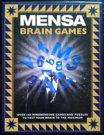 Mensa 'Brain Games' Puzzle Pack (boxed)