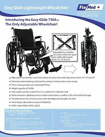 BRAND NEW EASY GLIDE FLO MED + 1000-NW15-ELR WHEEL CHAIRS ONLY £250