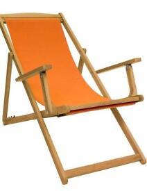New in its box Bentley Folding Eucalyptus Deck Chair.