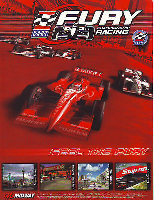 FURY CART CHAMPIONSHIP RACING By MIDWAY ORIGINAL NOS VIDEO ARCADE GAME FLYER