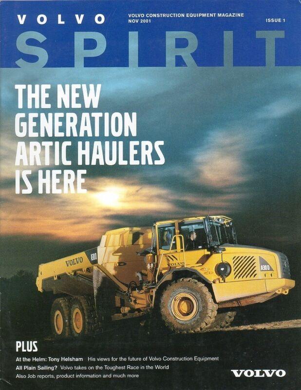 Equipment Magazine - Volvo - Artic Hauler A25D A30D et al 2001 Brochure (E1070)