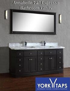 NEW 72 VANITY ESPRESSO WITHOUT TOP $1199