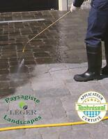 Paver cleaning and paver sealing Leger Landscapes
