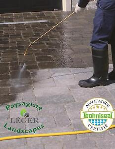 Paver cleaning and paver sealing Leger Landscapes West Island Greater Montréal image 1
