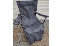 Folding camping/garden chair with leg rest