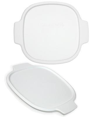 1 CORNINGWARE 2 Qt / 3 Qt White PLASTIC COVER A-2-PC Tab Casserole Storage Lid