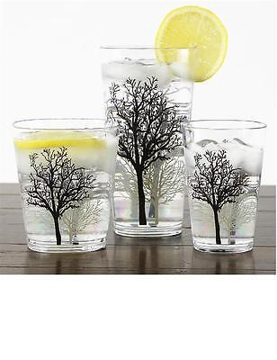 4 Corelle TIMBER SHADOWS Acrylic DRINKWARE Beverage Glass CHOOSE: 19, 14 or (Acrylic Beverage Glass)