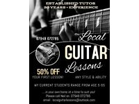 Local Guitar/Bass/Ukelele Lessons. Established tutor. Home visits. Any age/ability/style 07949072785