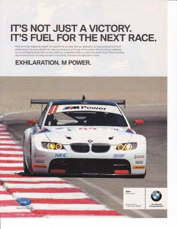 2009 BMW M Motorsports Print-Ad /  Great Art/ American Le Mans Series